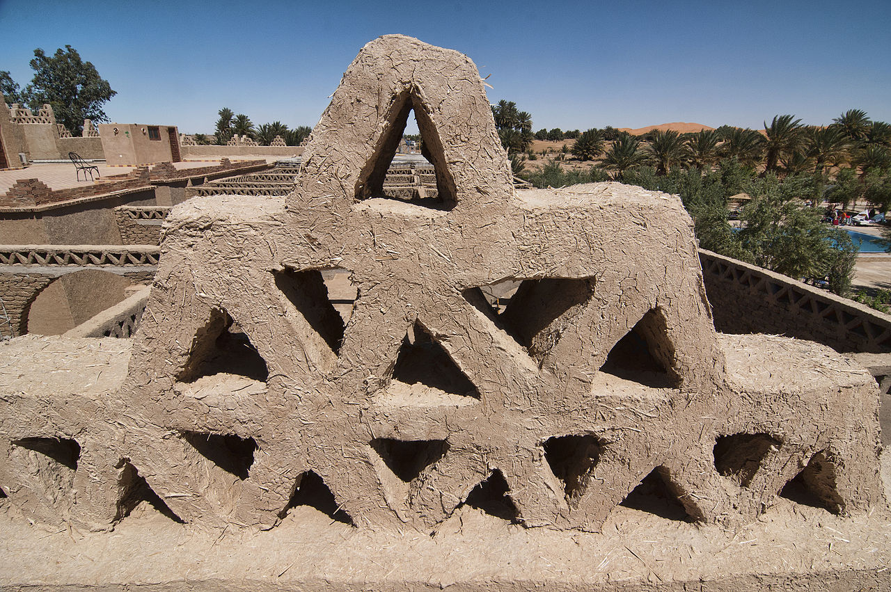 File Decoration In Adobe On Roof In Merzouga