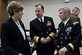 Defense.gov News Photo 101208-N-0696M-016 - Chairman of the Joint Chiefs of Staff Adm. Mike Mullen U.S. Navy speaks with U.S. Ambassador to South Korea Kathleen Stephens and Commanding.jpg