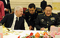 Defense.gov News Photo 110110-F-6655M-020 - Secretary of Defense Robert M. Gates and Chinese Minister of Defense Liang Guanglie talk with each other at a luncheon honoring Gates visit to.jpg