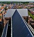 Delft Blick von der Nieuwe Kerk aufs Kirchendach 1.jpg
