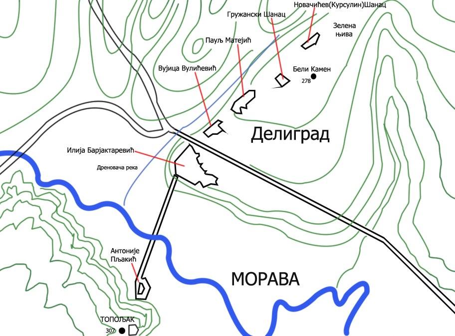 Deligrad position 1806-1813