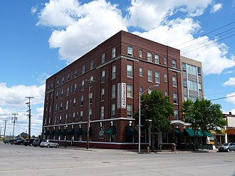 National Register of Historic Places listings in Delta County, Michigan - Image: Delta Hotel Escanaba Michigan