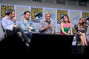 Blade Runner 2049 - Director Denis Villeneuve (at left) with the cast at San Diego Comic-Con 2017