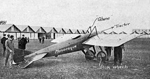 Société pour l'aviation et ses dérivés - An early version of the Deperdussin Monocoque.