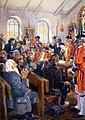 Deportation of Acadians order, painting by Jefferys.jpg