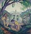 Derkovits Gyula - 1920-as évek - Forrás (vázlat).jpg