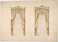 Design for Gold Curtains with Gold Fringes and a Gold and White Pediment MET DP807341.jpg