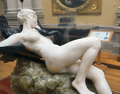 Desiré Maurice Ferrary (1852-1904) - Leda and the Swan (1898) right, Lady Lever Art Gallery, Port Sunlight, Cheshire, June 2013 (9105033004).png