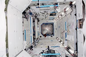 Destiny (ISS module) - The Destiny laboratory as it looked following installation in 2001.