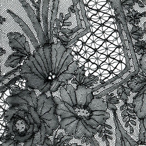 Chantilly lace - Scarf in Chantilly lace - MoMu-collection, Antwerp (Detail)