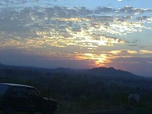 Devgadh Baria - Devgadh Baria's Sunset Point on top of Chougania Pass.