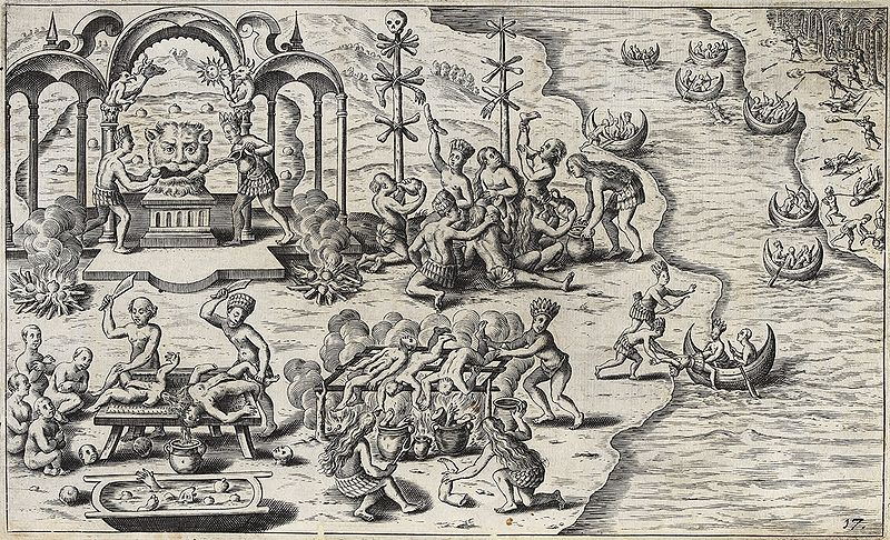 Devil worship and cannibalism in South America, 1621.