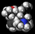 Dextro-Alphamethadol molecule spacefill.png