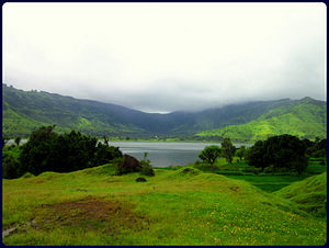 Dhom Dam - The reservoir for Dhom Dam on Krishna River in Wai, Maharashtra.