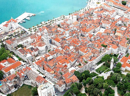 Diocletian's Palace from the air
