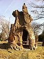 Dionicio Rodriguez Tree Shelter sculpture Cedar Hill Cemetery.jpg