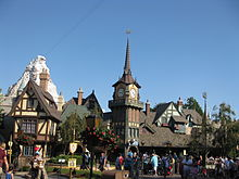 Attractions in FantasylandPeter Pan's Flight and the Matterhorn in Fantasyland
