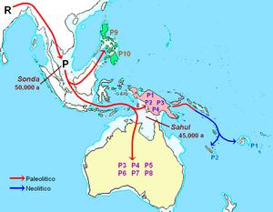 Haplogroup P (mtDNA) - Image: Dispersión del haplogrupo P (AD Nmt)