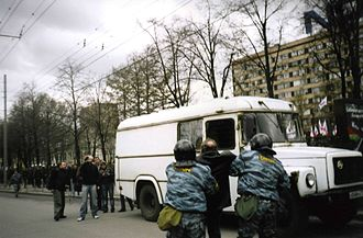 Moscow City Police - Riot Police making arrests during the Dissenters March, 2007