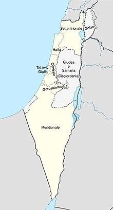 Stato Di Israele Cartina 2019.Distretti Di Israele Wikipedia