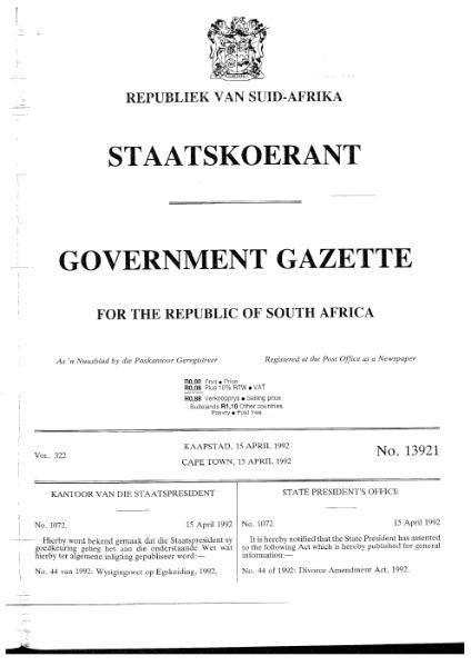 File:Divorce Amendment Act 1992.djvu