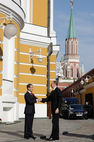 2010 Moscow Victory Day Parade - Image: Dmitry Medvedev greetings 9 May 2010 14