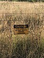 Do not enter sign at wire and posts fences in Queensland, Australia.jpg