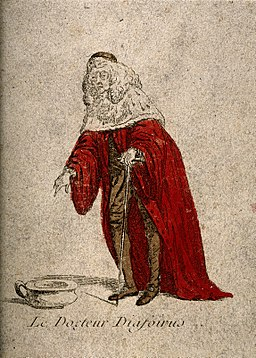 Doctor Diafoirus, a physician from Molière's play Le malade Wellcome V0016112