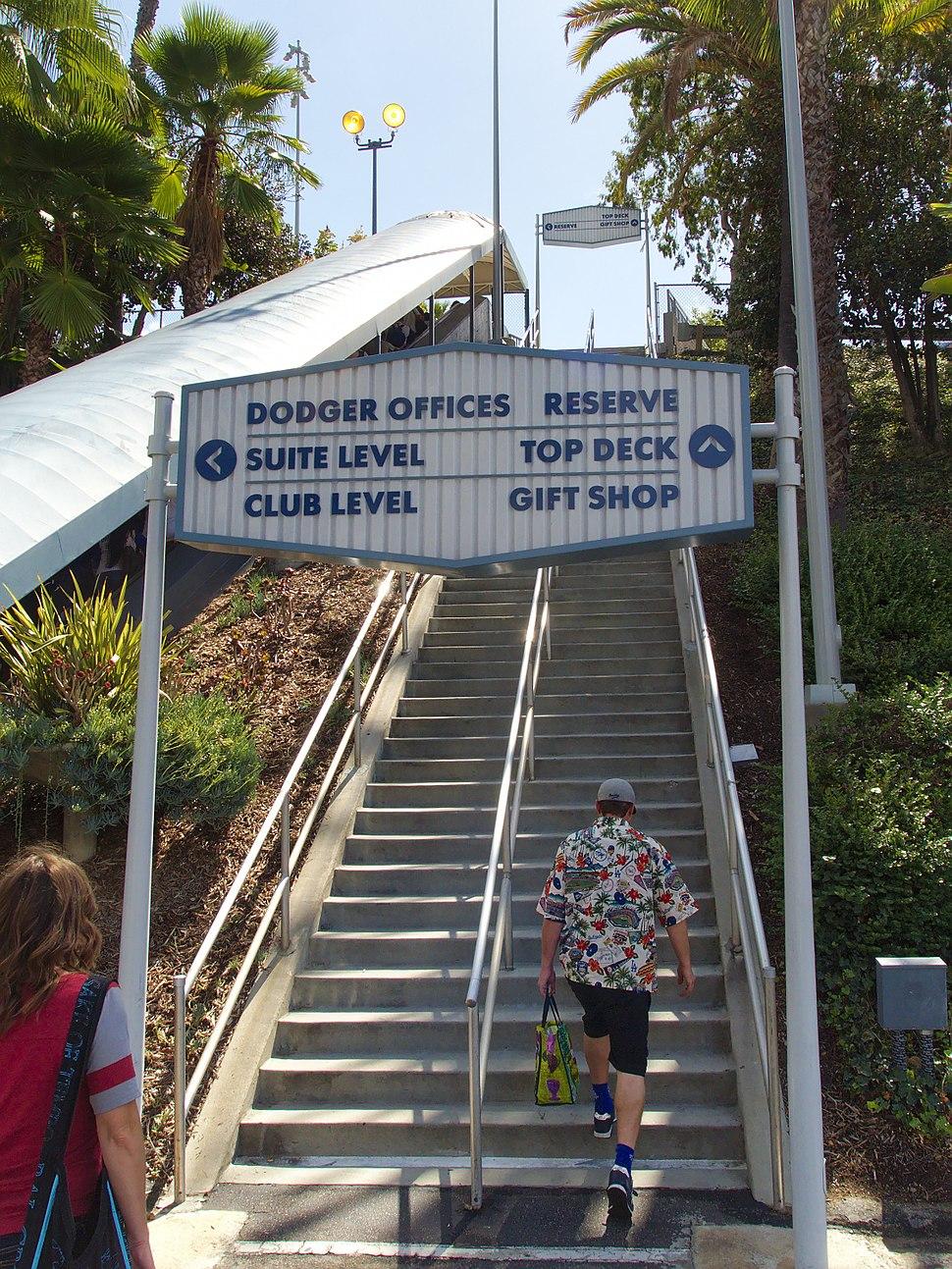 Dodger Stadium stairs 2015-10-04