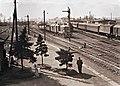 Dombóvár 1959, vasútállomás. Fortepan 94601.jpg