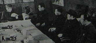 Lin Biao - Lin with high-ranking officers under his command (Harbin, 1946)