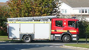 Dorset Fire and Rescue Service - A Scania built fire engine of the Dorset service.