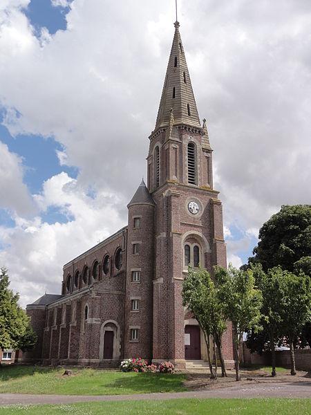 Douchy (Aisne) église Saint-Laurent