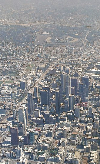Bunker Hill, Los Angeles - Aerial view in 2014