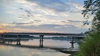 Karatoya River - Dr. M A Wazed Miah bridge over Karatoya river in Kanchdaha, Rangpur.