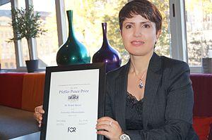 Widad Akrawi - Dr. Widad Akreyi received the 2014 International Pfeffer Peace Award  in October 2014