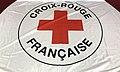 Drapeau Croix Rouge Française au Centre Mermoz (Lyon).JPG