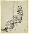 Drawing, Girl Seated on a Porch Step, 1879 (CH 18175345).jpg