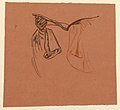 Drawing, study for hands holding an open book with drapery from clothing, ca. 1890 (CH 18404437).jpg