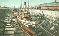 Dry Dock, Portsmouth Navy Yard, circa 1910 (20769979589).jpg
