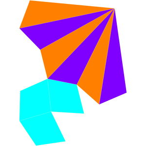 Triangular cupola - Image: Dual triangular cupola net