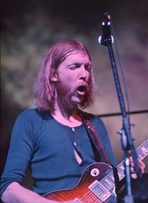 Roots rock - Duane Allman playing guitar at the Fillmore East, June 26, 1971 (late show)