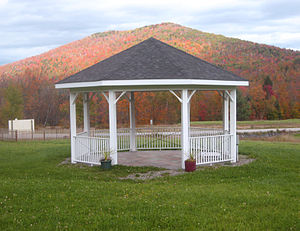 Middlesex, Vermont - Middlesex's bandstand in front of Mount Dumpling