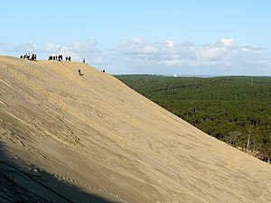 English: The Great Dune of Pyla, France, the t...
