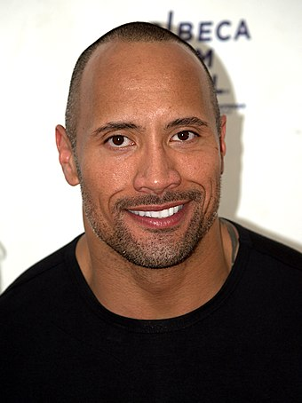 Dwayne Johnson at the 2009 Tribeca Film Festival., From WikimediaPhotos