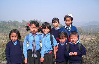 Koireng school children in Manipur, 2008 Dzeite1Cropped.jpg