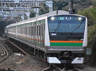 railway line in Japan