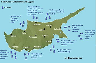 Cyprus - Early Greek colonization of Cyprus