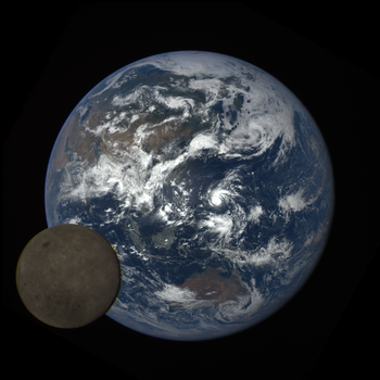 Eath and the Moon, image captured by NASA's DSCOVR satellite