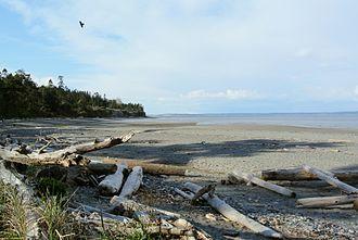 Marrowstone, Washington - East Beach Park, looking north towards Marrowstone Point